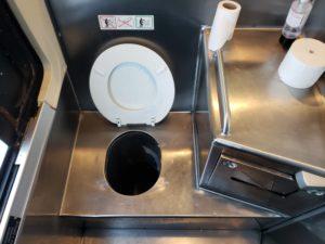 グレイハウンド・バスのトイレ