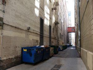 16番ストリートモールの脇道(デンバー)