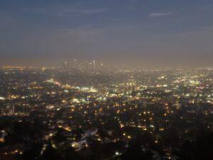 グリフィス天文台からロスの夜景