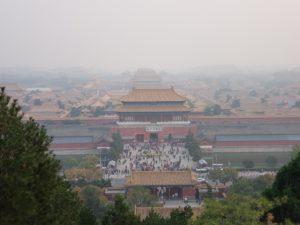景山から故宮の眺め(北京)