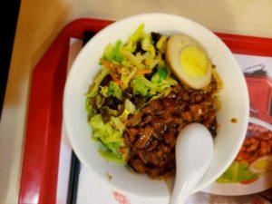 王府井のファーストフードで昼食(北京)