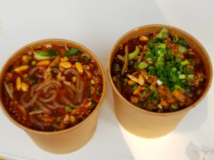 屋台街で一番人気の辛い麺(秦始皇帝陵博物院)