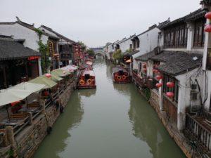 山塘街の運河(蘇州)