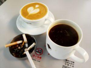 新天地のカフェで(上海)
