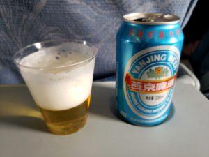 中国国際航空のビール(上海~成田)