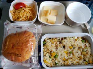中国国際航空の機内食(上海~羽田)