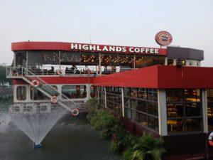 チュックバック湖のハイランドコーヒー(ハノイ)